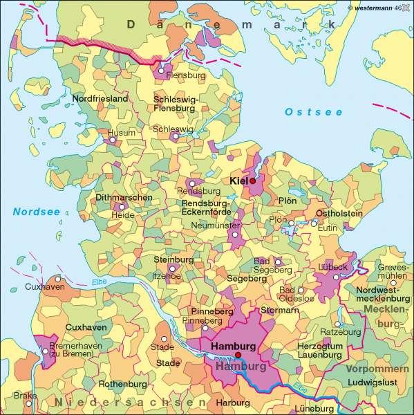 Schleswig Holstein Karte.Diercke Weltatlas Kartenansicht Bevölkerungsdichte 978 3 14