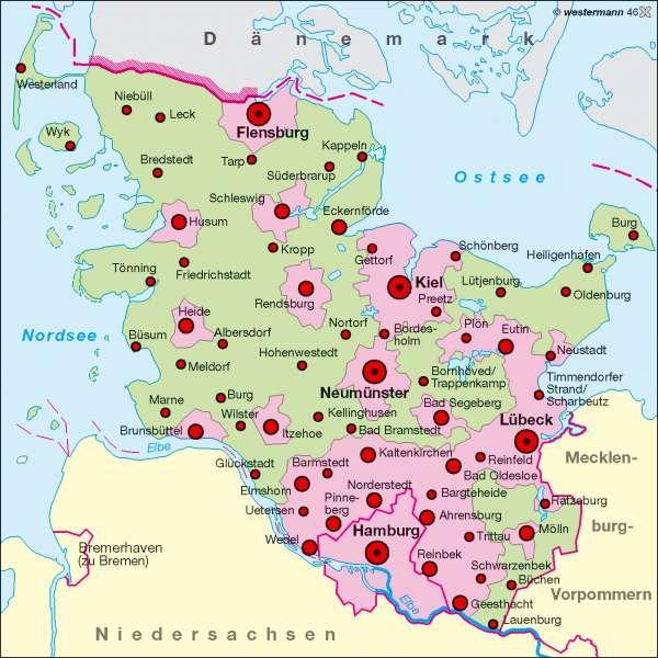 Ostsee Karte Schleswig Holstein.Diercke Weltatlas Kartenansicht Raumordnung 978 3 14 100753
