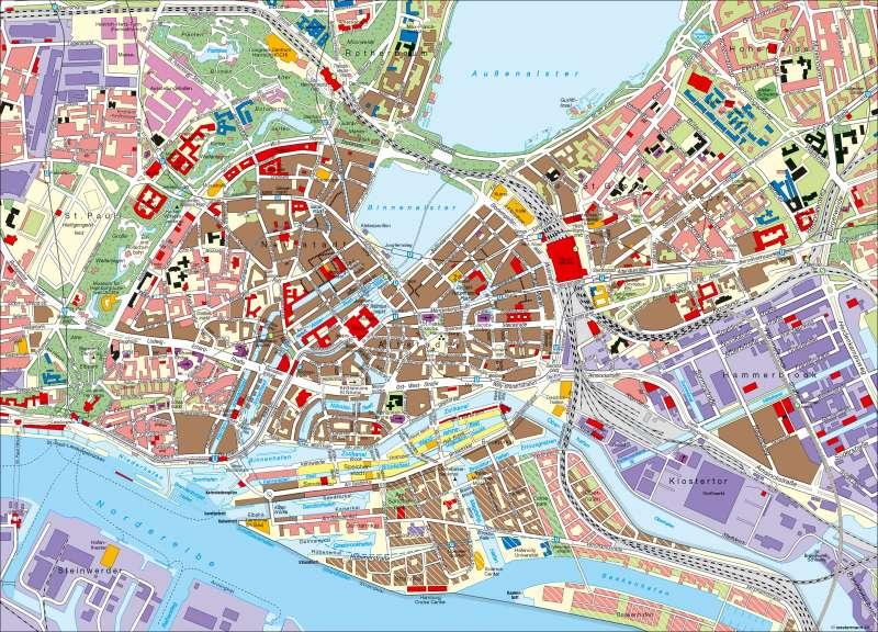stadtzentrum hamburg karte Diercke Weltatlas   Kartenansicht   Hamburg   Innenstadt   978 3