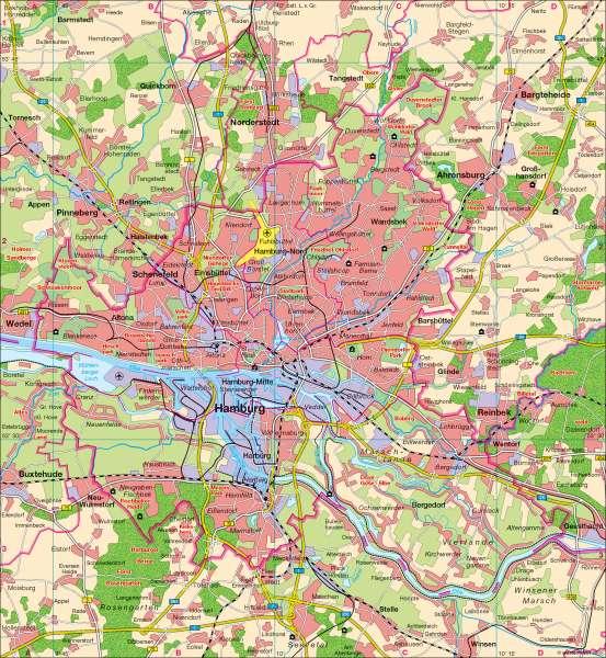 Hamburg | Übersicht | Hamburg | Karte 14/1