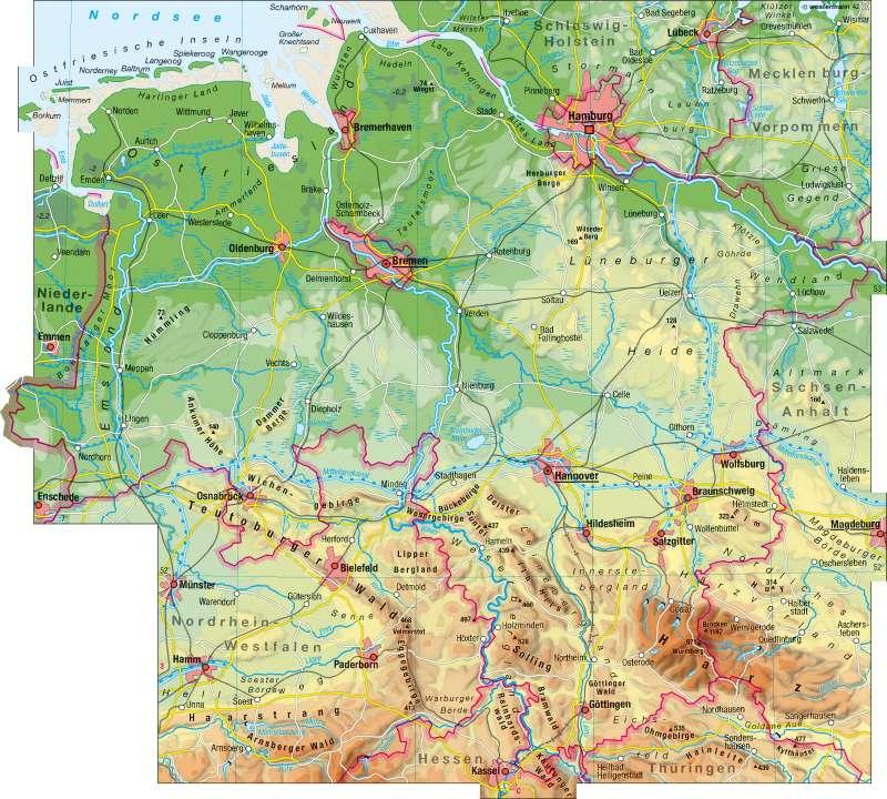 Diercke Weltatlas Kartenansicht Physische Ubersicht 978 3 14 100754 1 3 1 0