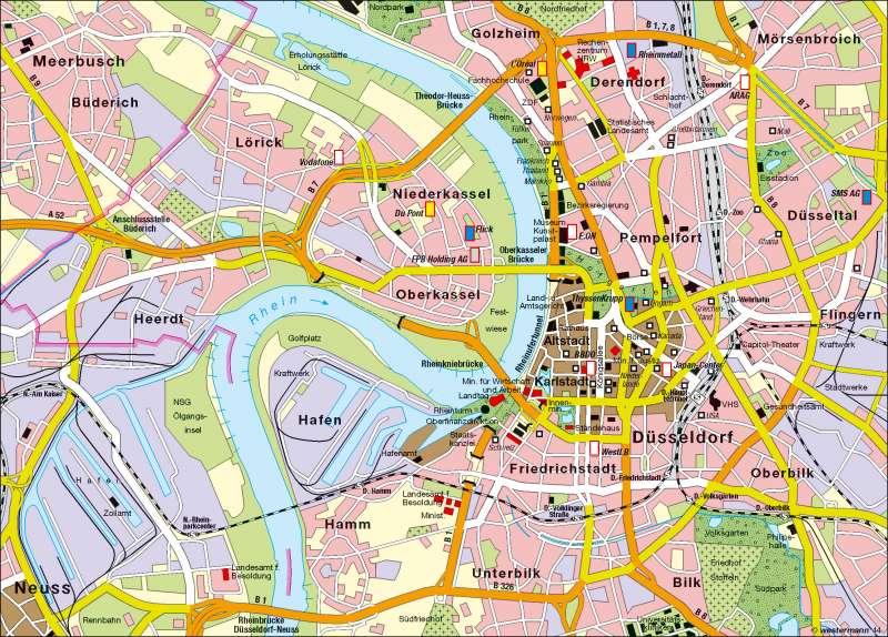Düsseldorf Karte.Diercke Weltatlas Kartenansicht Düsseldorf Innere Stadt