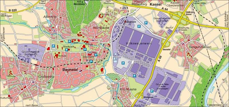 Baunatal | Strukturwandel 2006 | Wirtschaft | Karte 9/3