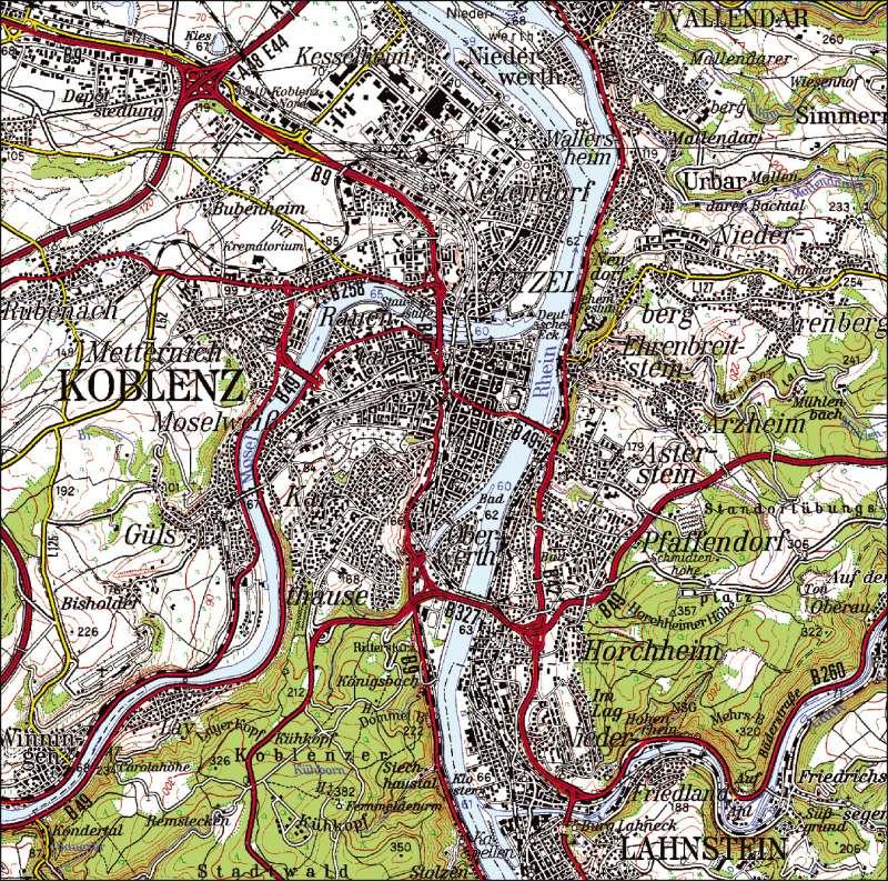 topographische karte rheinland pfalz Diercke Weltatlas   Kartenansicht   Topographische Karte 1  topographische karte rheinland pfalz