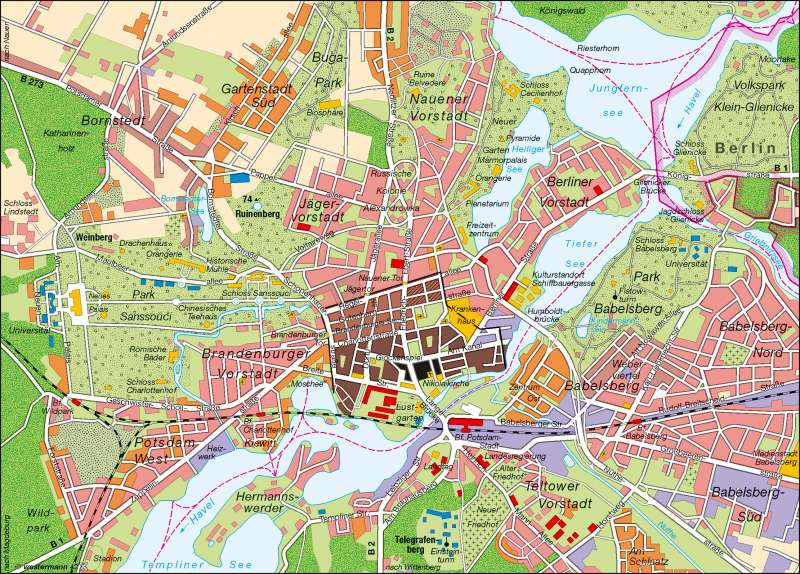 potsdam karte Diercke Weltatlas   Kartenansicht   Potsdam   Landeshauptstadt  potsdam karte