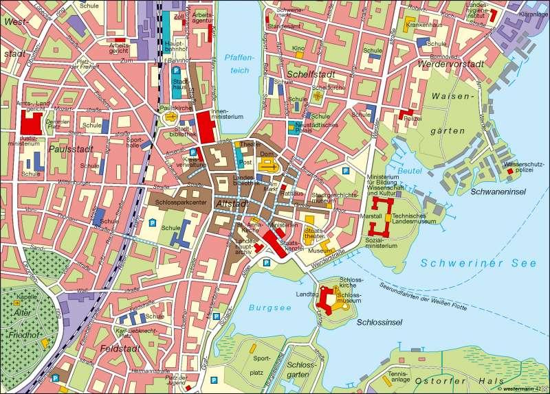 Landeshauptstadt Schwerin | Innenstadt | Landeshauptstadt | Karte 6/2