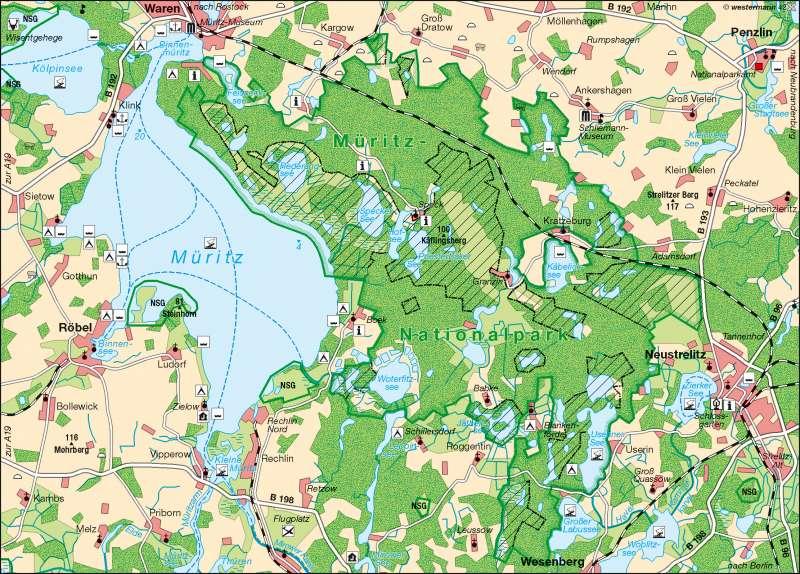 Müritz | Tourismus und Naturschutz | Naturschutz | Karte 7/2