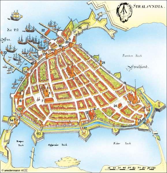 Stralsund Karte.Diercke Weltatlas Kartenansicht Stralsund Im 17 Jahrhundert