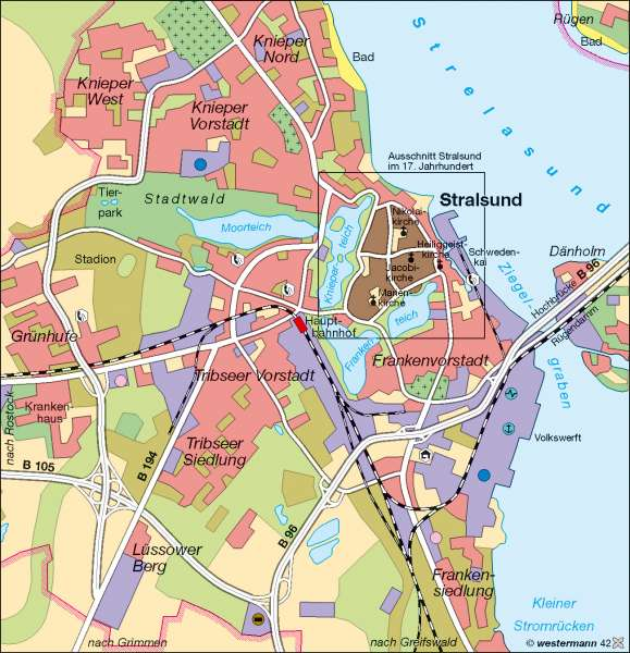 Stralsund Karte.Diercke Weltatlas Kartenansicht Stralsund Heute 978 3 14