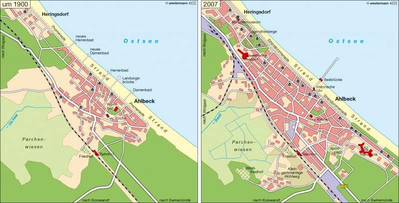 Seebad Ahlbeck um 1900/2007 |  | Geschichtliche Entwicklung | Karte 11/2