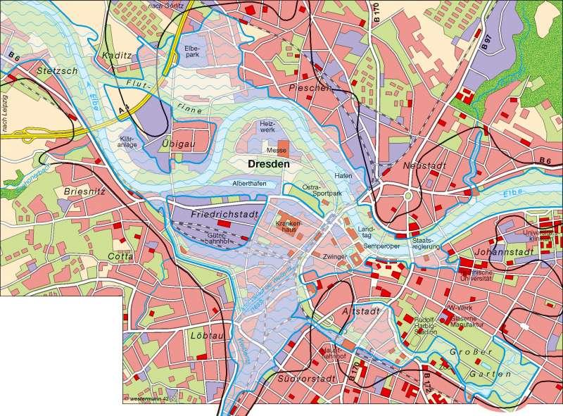 hochwasser 2002 dresden karte Diercke Weltatlas   Kartenansicht   Dresden   Hochwasser 2002