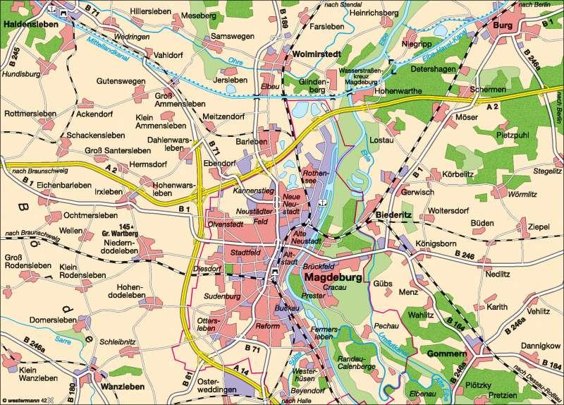 Diercke Weltatlas Kartenansicht Grossraum Magdeburg 978 3