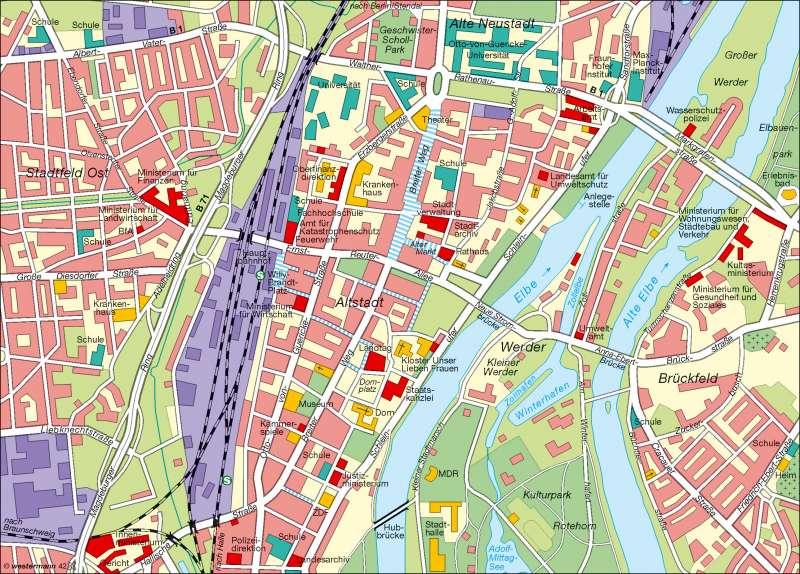 Landeshauptstadt Magdeburg | Innenstadt | Landeshauptstadt | Karte 11/6
