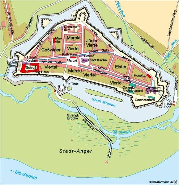 Wittenberg um 1750      Kultur   Karte 12/1