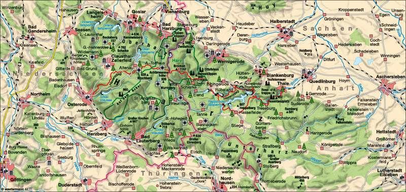 Mittelgebirge Harz |  | Erholung | Karte 14/1