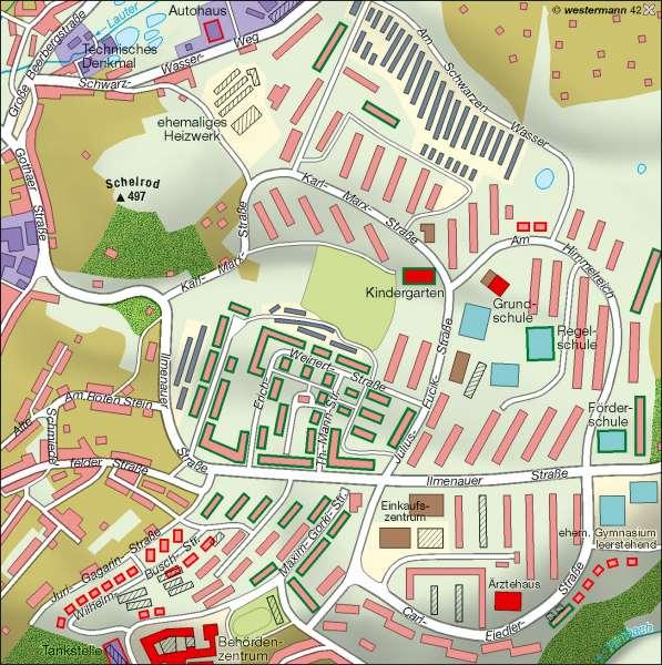 Suhl   Wohngebiet Ilmenauer Straße   Raumordnung   Karte 11/5