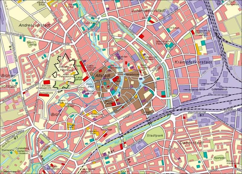 Landeshauptstadt Erfurt | Innenstadt | Verwaltung | Karte 14/1